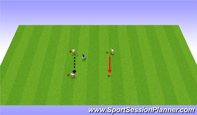 Football/Soccer Session Plan Drill (Colour): Triangle movement