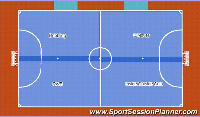 Futsal Session Plan Drill (Colour): Revision