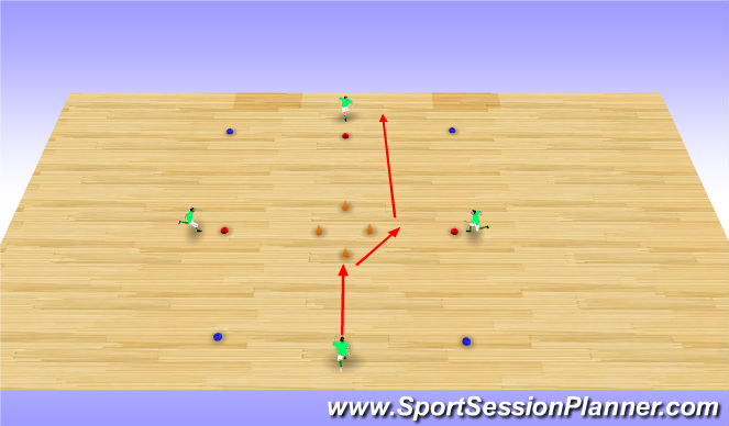 Futsal Session Plan Drill (Colour): Y Move
