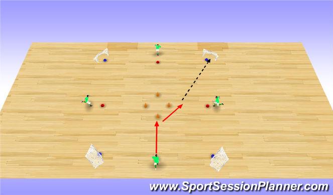 Futsal Session Plan Drill (Colour): Y Move