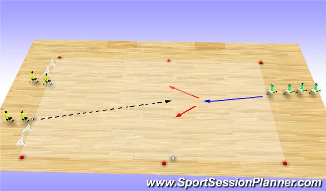 Futsal Session Plan Drill (Colour): Skill