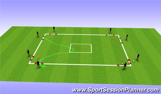 Football/Soccer Session Plan Drill (Colour): T1: Great Escape