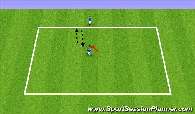 Football/Soccer Session Plan Drill (Colour): Receiving the ball with a defender