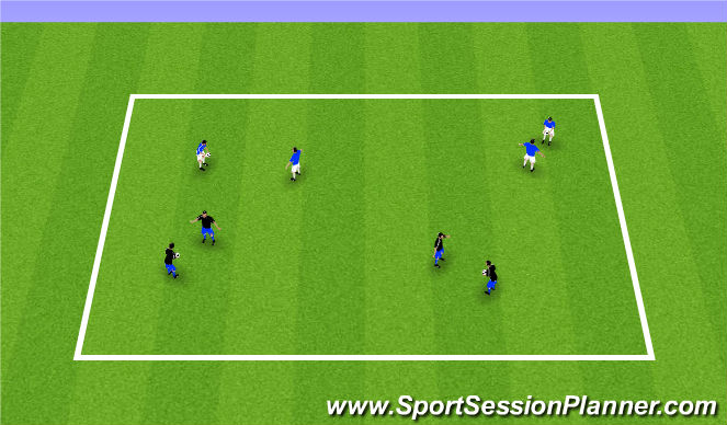 Football/Soccer Session Plan Drill (Colour): Receiving the ball in the air