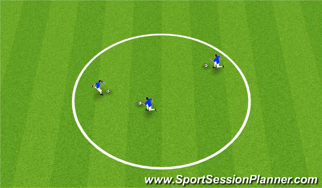 Football/Soccer Session Plan Drill (Colour): King Of Ring