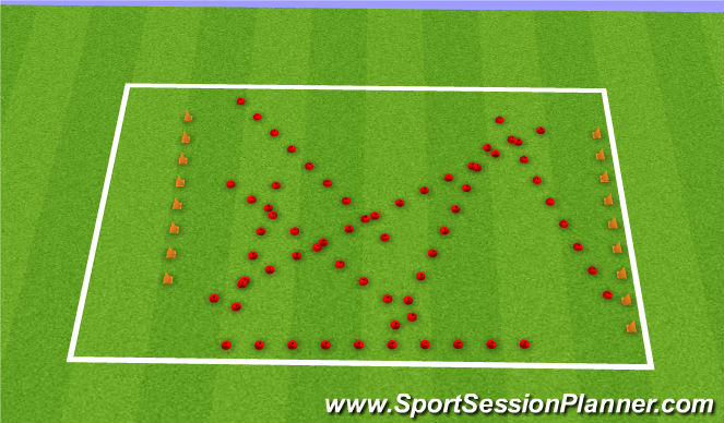 Football/Soccer Session Plan Drill (Colour): Obstacle Race