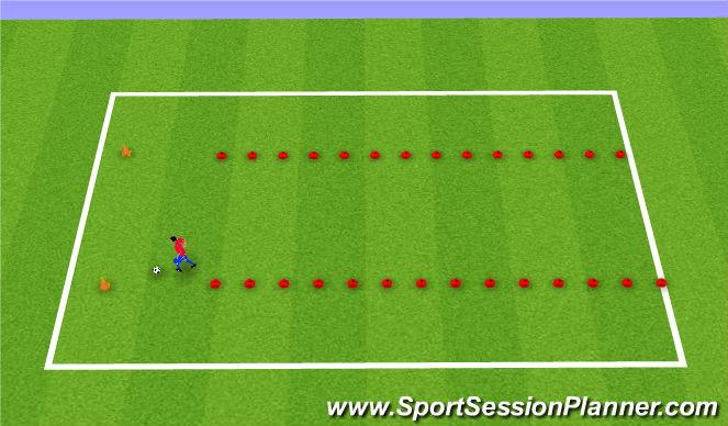 Football/Soccer Session Plan Drill (Colour): Slalom Race