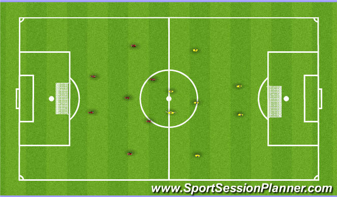 Football/Soccer Session Plan Drill (Colour): Aerobic Drill