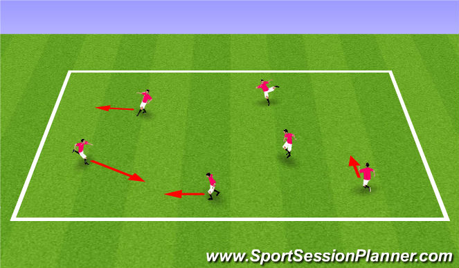 Football/Soccer Session Plan Drill (Colour): Fundamental warm up, move like a....