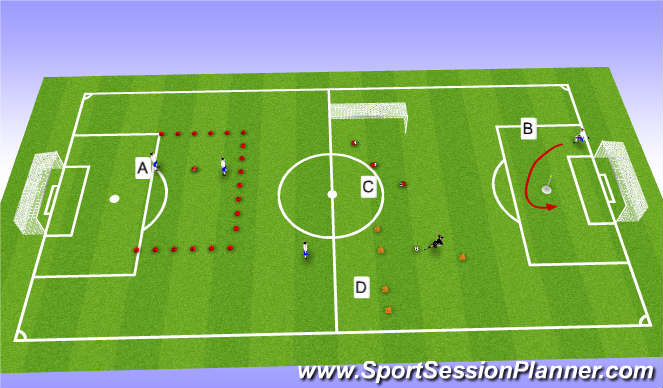 Football/Soccer Session Plan Drill (Colour): Fun in the sun, SnT passing