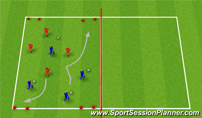 Football/Soccer Session Plan Drill (Colour): SSG, multiball