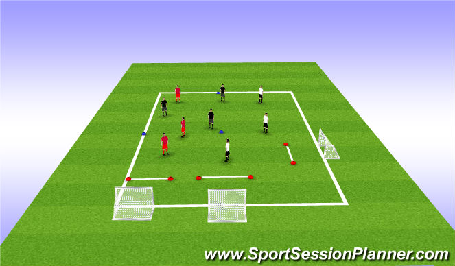 Football/Soccer Session Plan Drill (Colour): WU: Multi directional movement