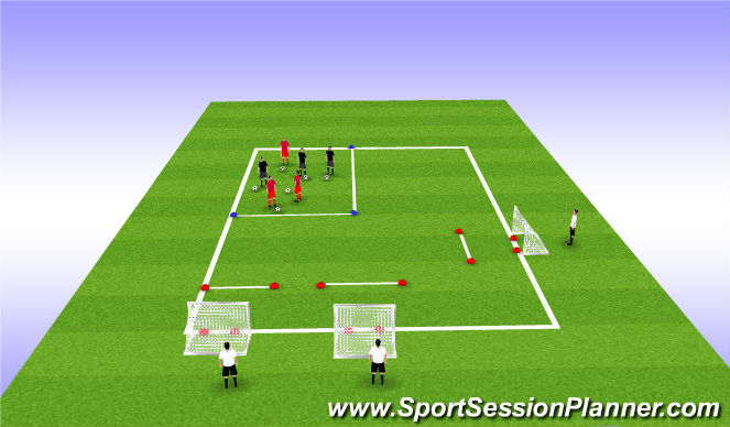Football/Soccer Session Plan Drill (Colour): T1: Shooting