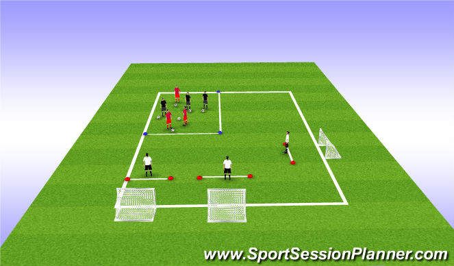 Football/Soccer Session Plan Drill (Colour): T2: Shooting