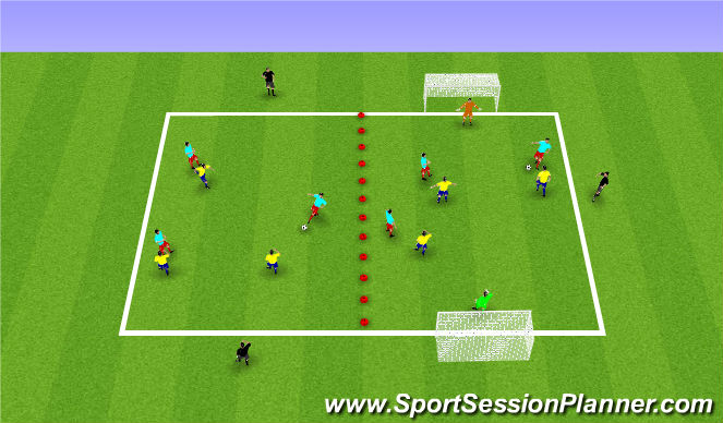 Football/Soccer Session Plan Drill (Colour): High Intensity SSG