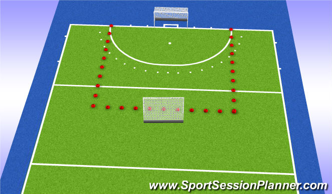 Hockey Session Plan Drill (Colour): 4vs4vs4