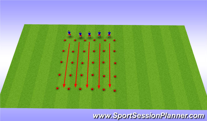 Football/Soccer Session Plan Drill (Colour): Dynamic/Static