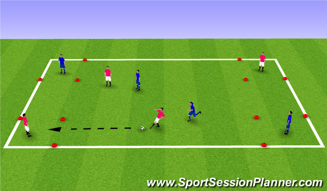 Football/Soccer Session Plan Drill (Colour): Find a friend