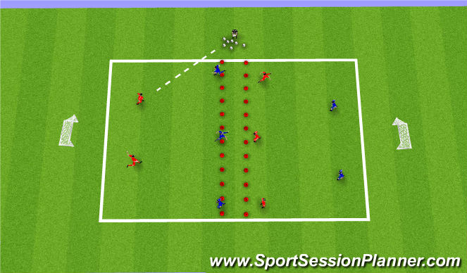 Football/Soccer Session Plan Drill (Colour): Skill 2