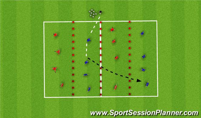 Football/Soccer Session Plan Drill (Colour): Skill 1