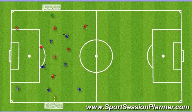Football/Soccer Session Plan Drill (Colour): Red Team Match