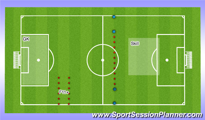 Football/Soccer Session Plan Drill (Colour): Day 2