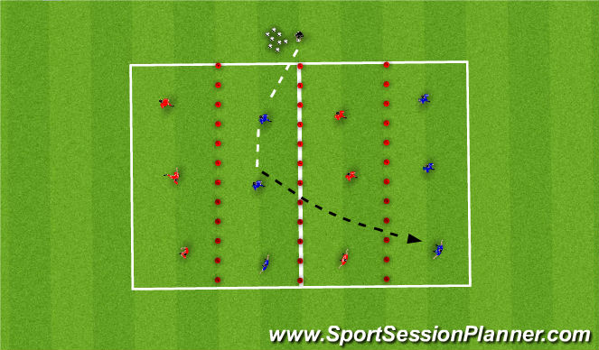Football/Soccer Session Plan Drill (Colour): Skill 1 (WOP)