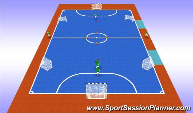 Futsal Session Plan Drill (Colour): Revision technique