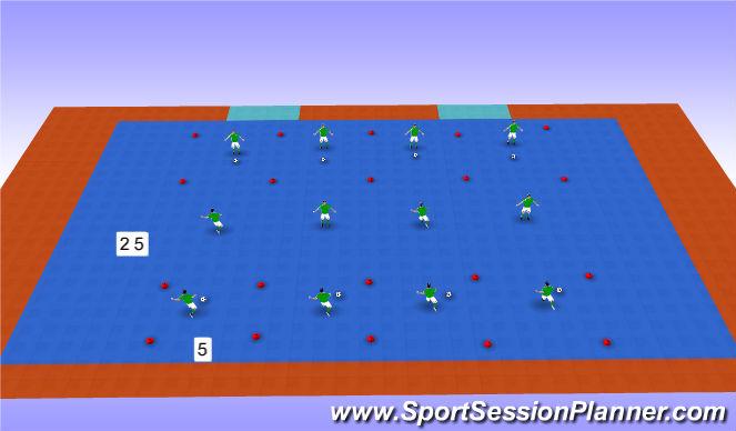 Futsal Session Plan Drill (Colour): Technique