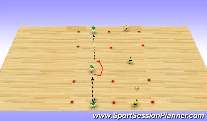 Futsal Session Plan Drill (Colour): Technique