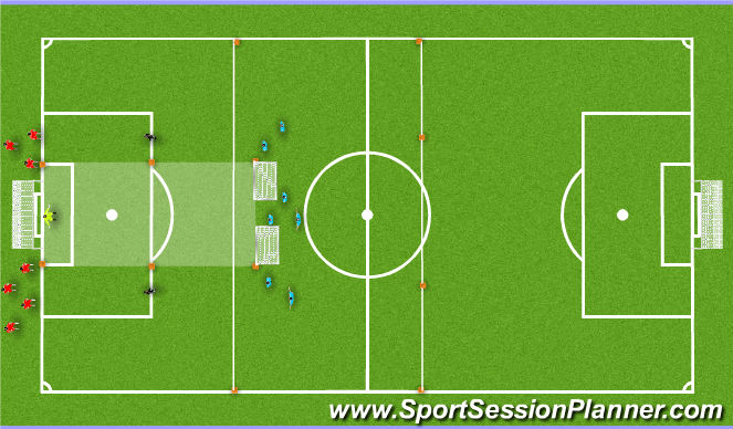 Football/Soccer Session Plan Drill (Colour): DNA Intro