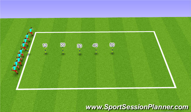 Football/Soccer Session Plan Drill (Colour): Sprints & Cool Down
