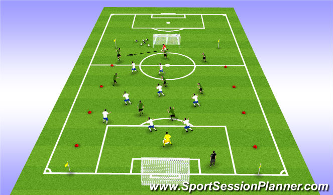 Football/Soccer Session Plan Drill (Colour): Front 2