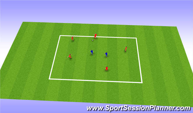 Football/Soccer Session Plan Drill (Colour): Warm up - 5v2