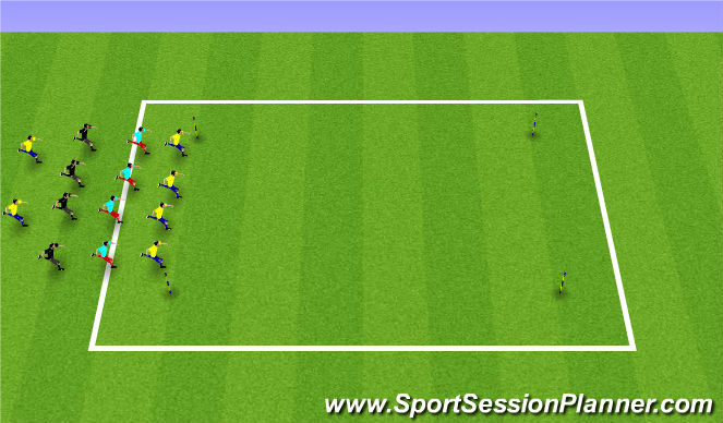 Football/Soccer Session Plan Drill (Colour): Horseshoe runs