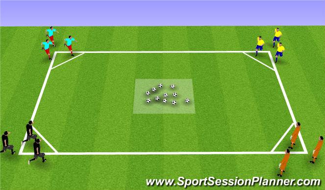 Football/Soccer Session Plan Drill (Colour): Robin Hood Games