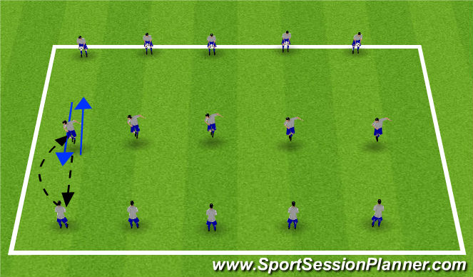 Football/Soccer Session Plan Drill (Colour): Heading & Traping