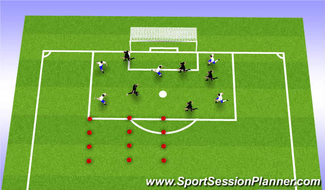 Football/Soccer Session Plan Drill (Colour): Pass and Move warm up