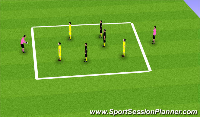 Football/Soccer Session Plan Drill (Colour): Hand Keep away