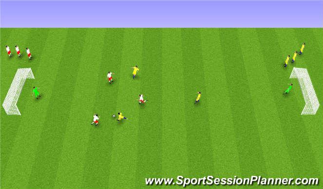 Football/Soccer Session Plan Drill (Colour): Spil með áherslu á viðstöðulaust skot.