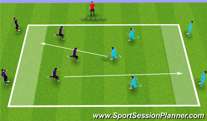 Football/Soccer Session Plan Drill (Colour): Dribbling Game