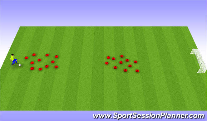 Football/Soccer Session Plan Drill (Colour): Cone Jungle