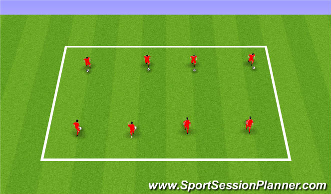 Football/Soccer Session Plan Drill (Colour): Warm Up Phase2