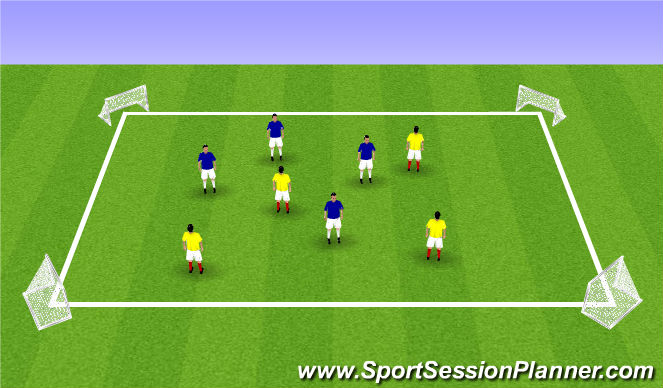 Football/Soccer Session Plan Drill (Colour): SSG7