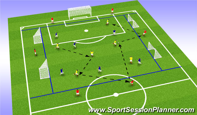 Football/Soccer Session Plan Drill (Colour): SSG13