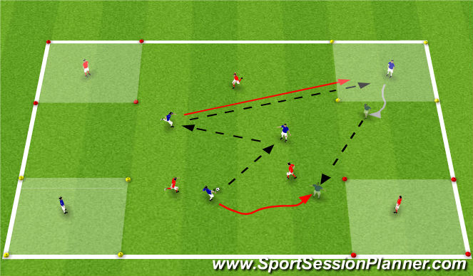 Football/Soccer Session Plan Drill (Colour): SSG15