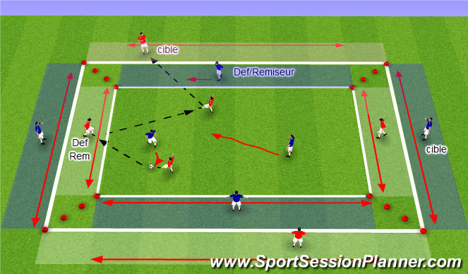 Football/Soccer Session Plan Drill (Colour): SSG18