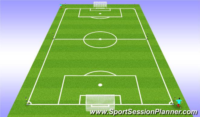 Football/Soccer Session Plan Drill (Colour): Pyramid Runs