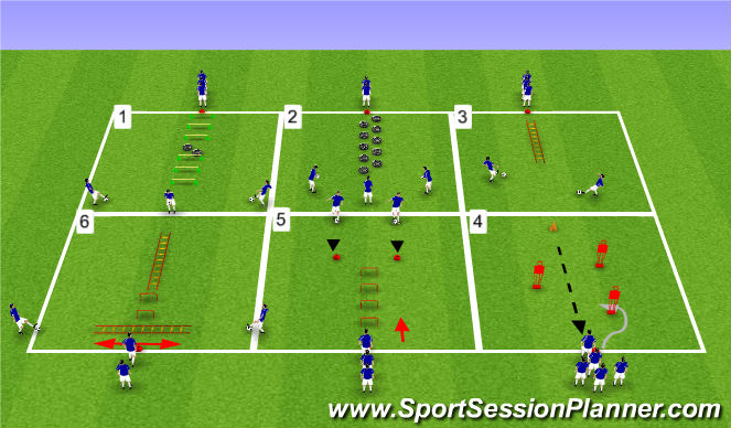 Football/Soccer Session Plan Drill (Colour): Atelier 1
