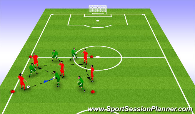 Football/Soccer Session Plan Drill (Colour): Money Ball